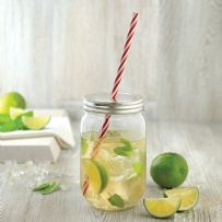 600ml Mason Jar & Straw